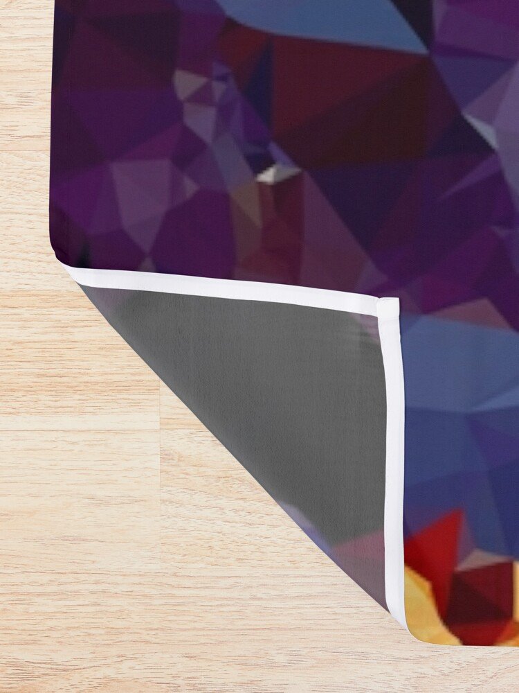 Alternate view of Blue Gold Purple Crystal Low Poly Geometric Triangles    Shower Curtain