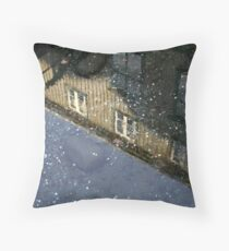 Coins and Raindrops Throw Pillow