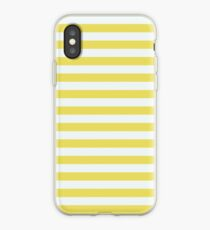 Pale Gold And White Stripes iPhone Case
