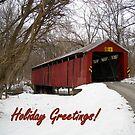 Charlton Covered Bridge-Happy Holidays by debbiedoda