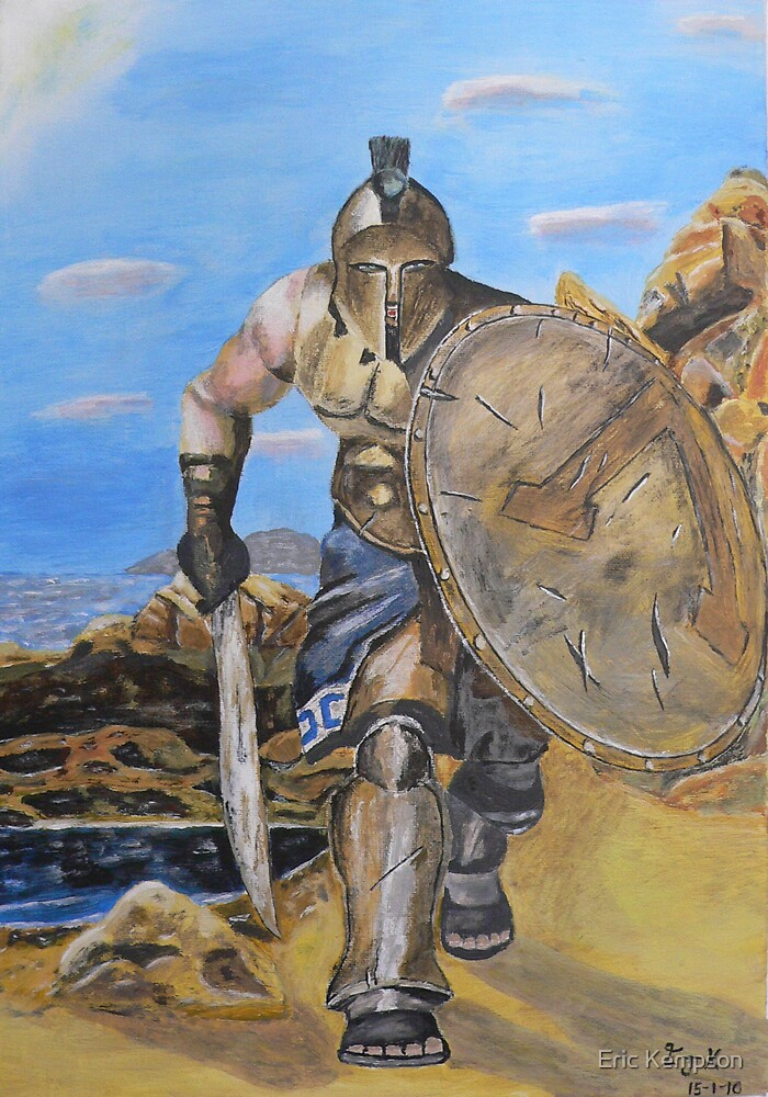Spartan Warrior, One of the three hundred by Eric Kempson