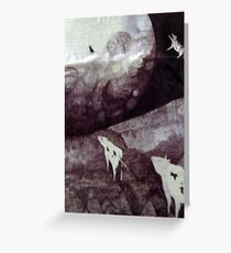 cows jump over the moon Greeting Card