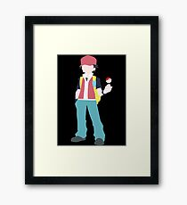 Simplified Red Framed Print
