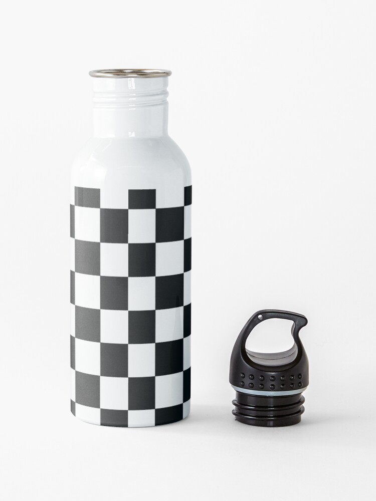 Alternate view of Checkered Black and White Water Bottle