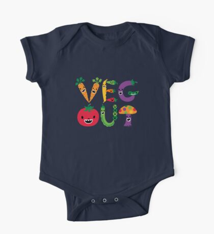 Veg Out - navy Kids Clothes
