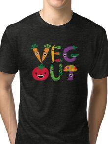 Veg Out - navy Tri-blend T-Shirt