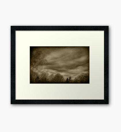 The Textured Sky Framed Print