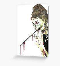 Zombies at Tiffany's Greeting Card