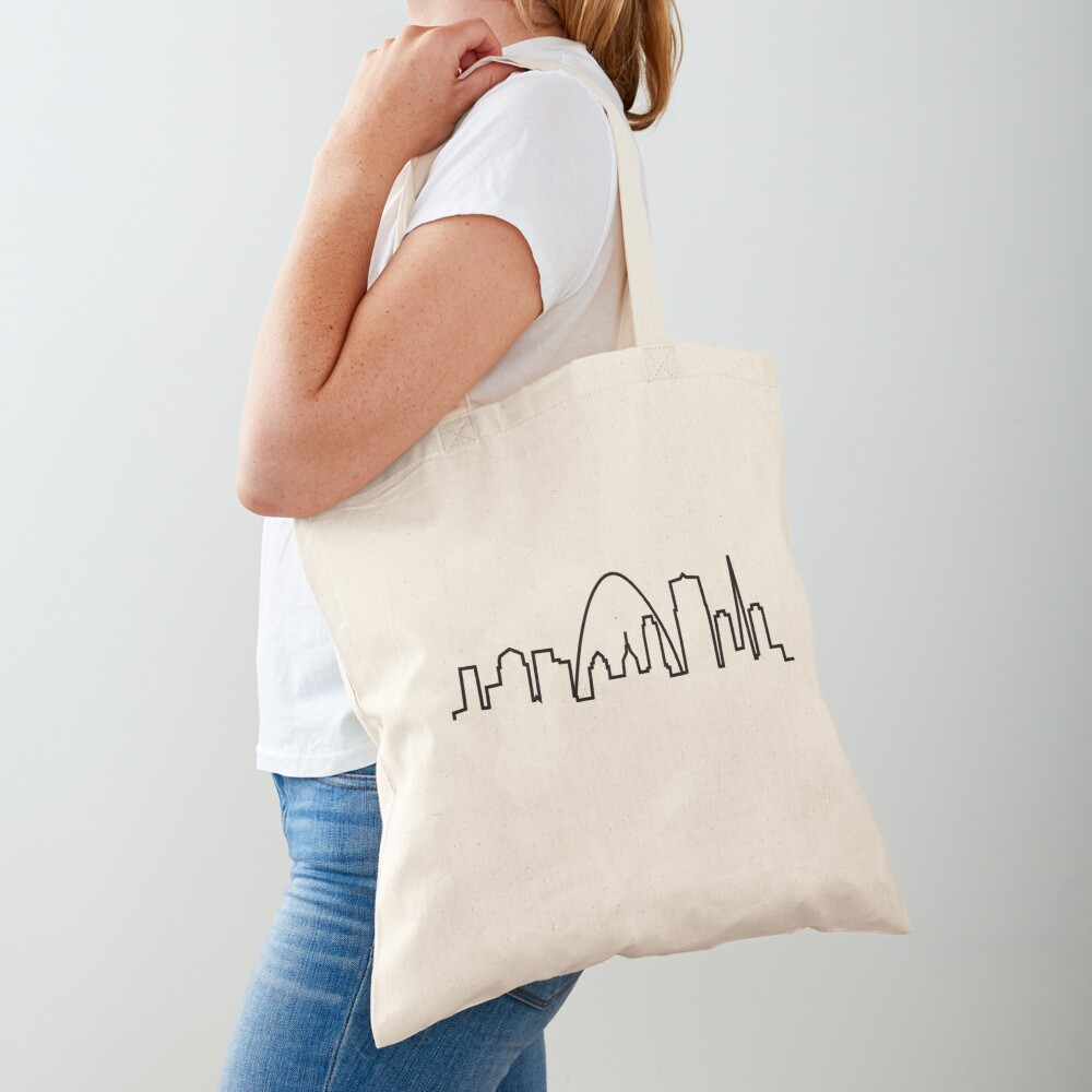 St. Louis City Skyline Tote Bag
