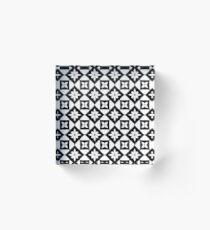Bloque acrílico Floral Geometric Fake Lace pattern