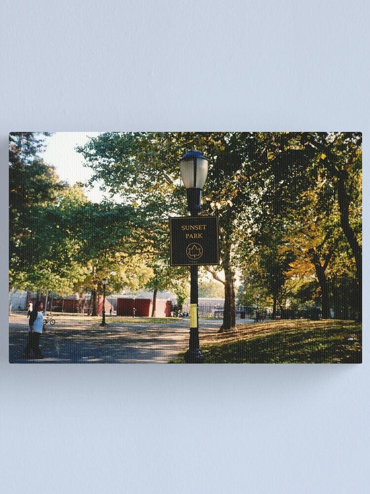 Alternate view of Sunset Park Canvas Print