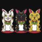 Maneki Neko - Hear See Speak No Evil by karbondream