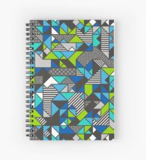 Cuaderno de espiral Geometric Shapes and Triangles Blue Mint Green