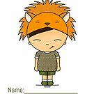 Lion costume boy-Brown hair straight by cardwellandink