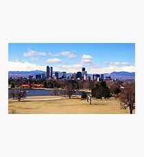 Downtown Denver in March Photographic Print