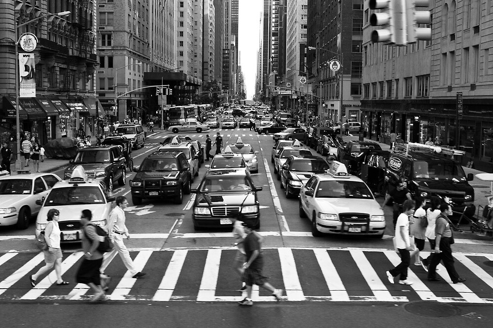 NYC Street Crossing by Pierre Bourgault
