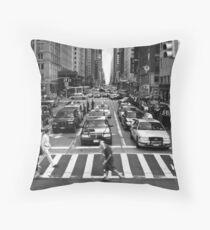 NYC Street Crossing Throw Pillow
