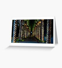 Palm Archway Greeting Card
