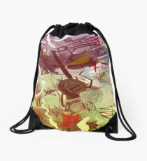 HERE WE ARE Drawstring Bag