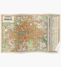 Berlin Map from Berlin The Wicked City (Call of Cthulhu) Poster