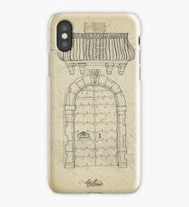 Italian vintage door with balcony iPhone Case/Skin