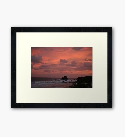 Bush Fire Sunset Framed Print