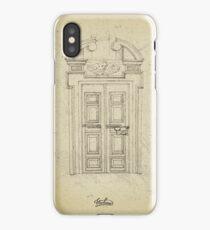 Italian old vintage door grapgics iPhone Case/Skin