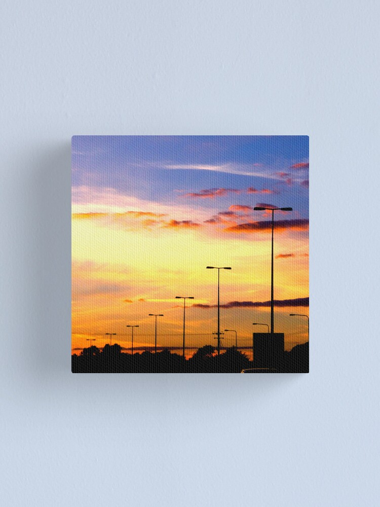 Alternate view of Sunset Lamp Posts Canvas Print