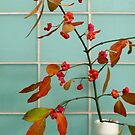 Autumn Twig and Tiles by MarjorieB