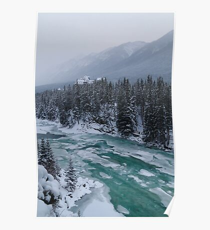 Icy Bow river Poster