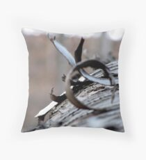 The Wooden Curl Throw Pillow