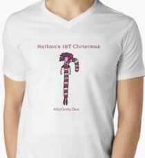 Nathan 1st Christmas Men's V-Neck T-Shirt