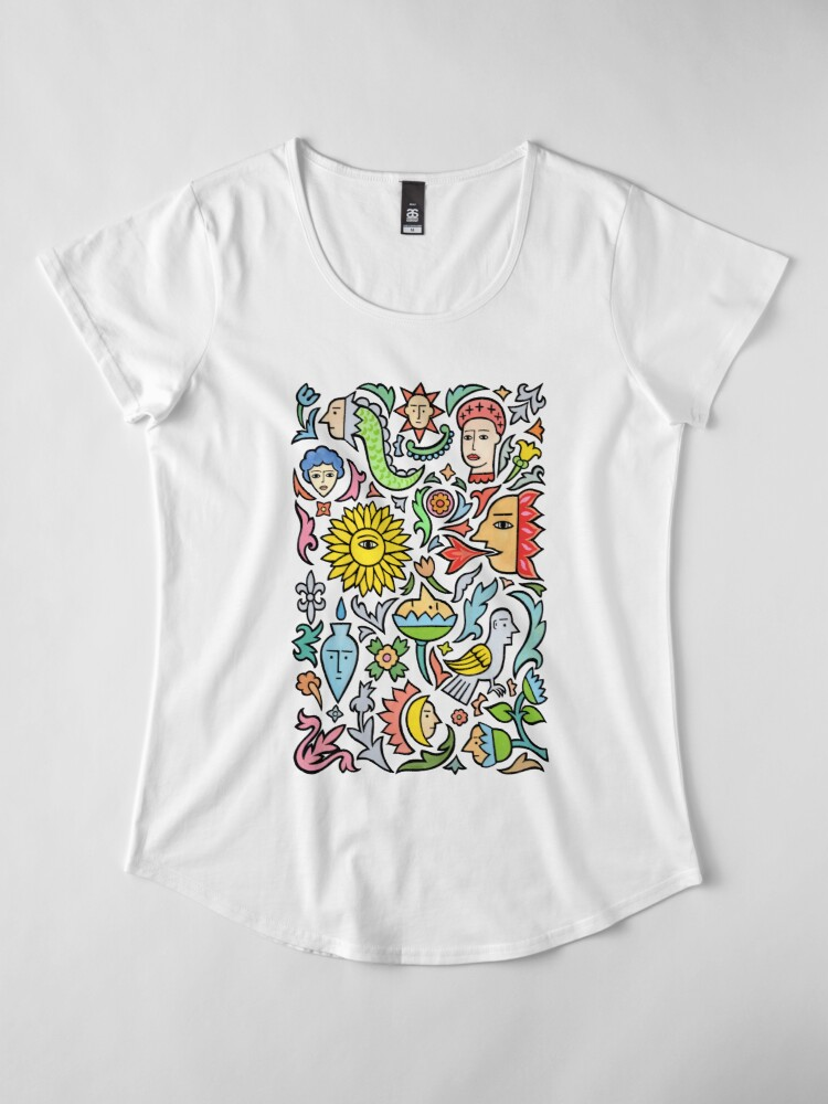 Alternate view of A bird among the other stuff Premium Scoop T-Shirt