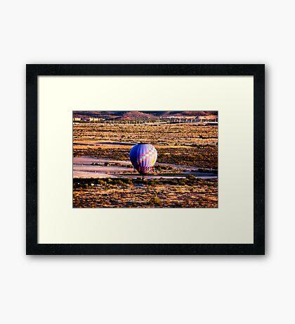 DESERT BALLOONS. Framed Print