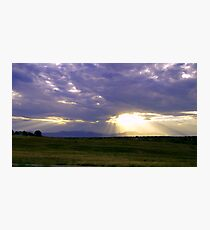 Sun Through the Clouds Photographic Print