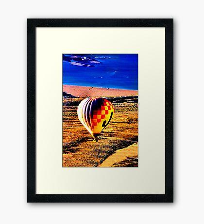 BALLOON IN LAKE PLEASANT... Framed Print