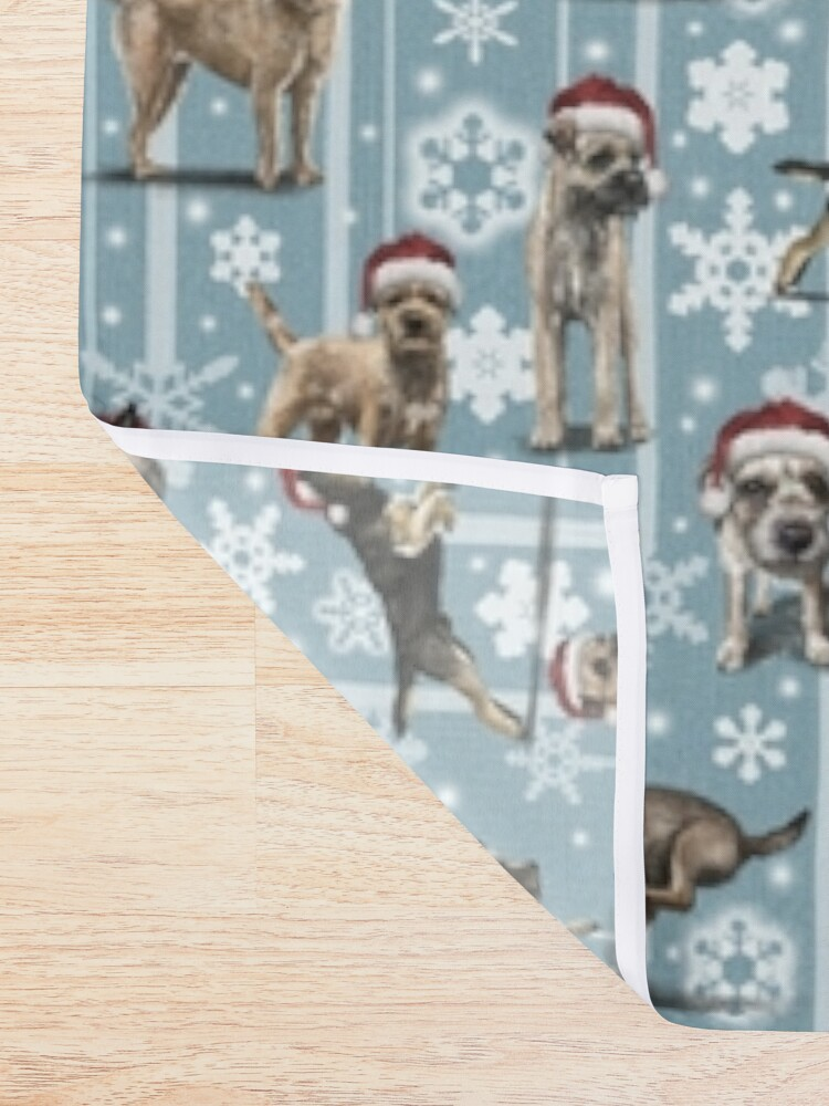 Alternate view of The Christmas Border Terrier Shower Curtain