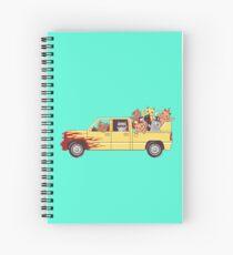 Cat wagon Spiral Notebook