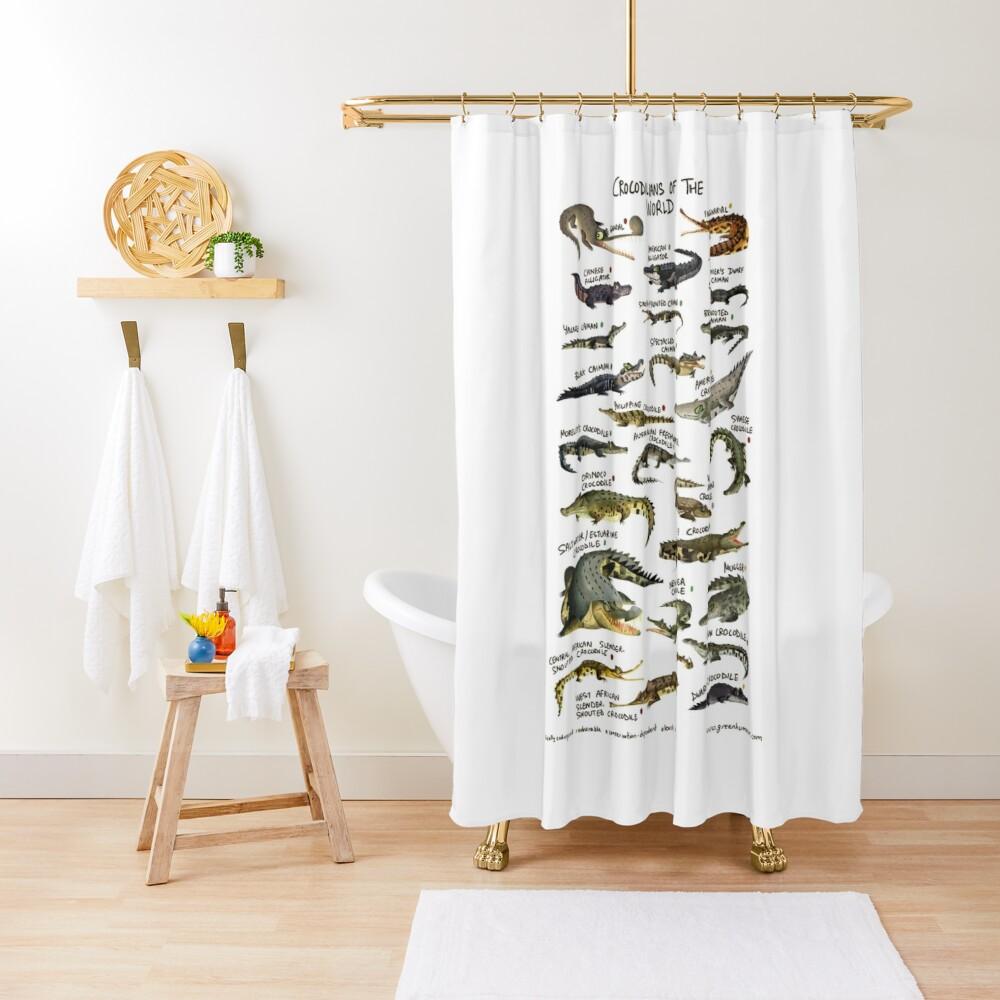Crocodilians of the World Shower Curtain