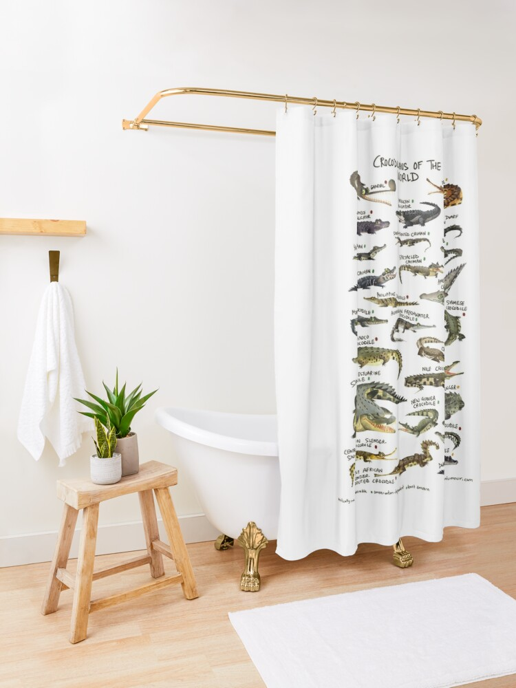 Alternate view of Crocodilians of the World Shower Curtain