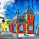 Train Stop - Kentville Nova Scotia by Kevin Cameron
