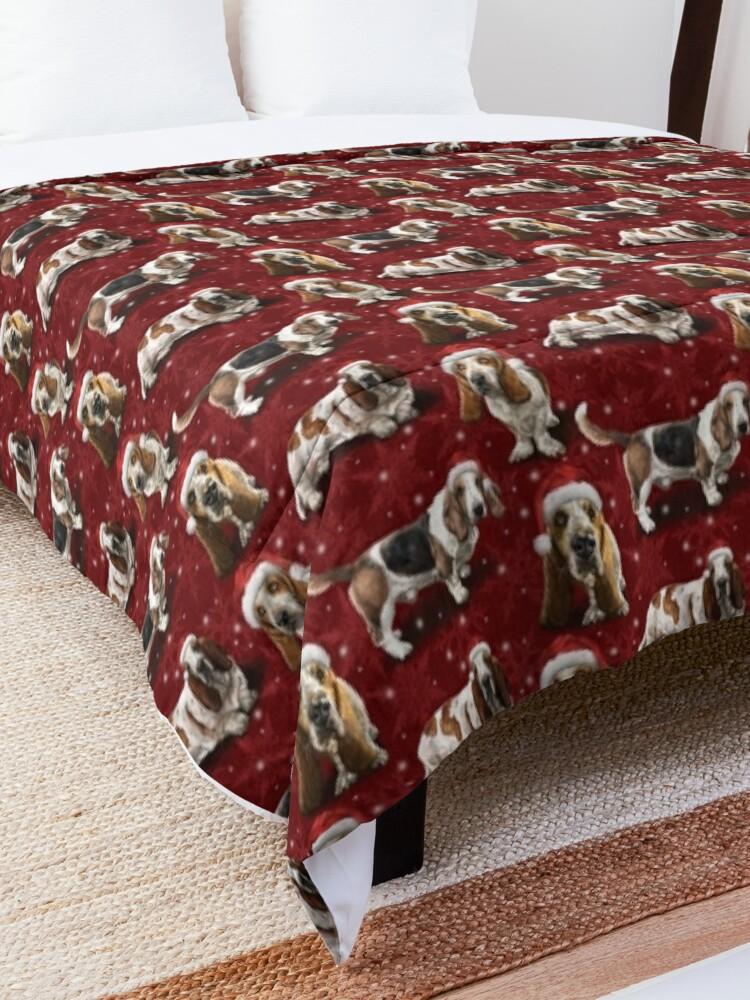 Alternate view of The Christmas Basset Hound Comforter