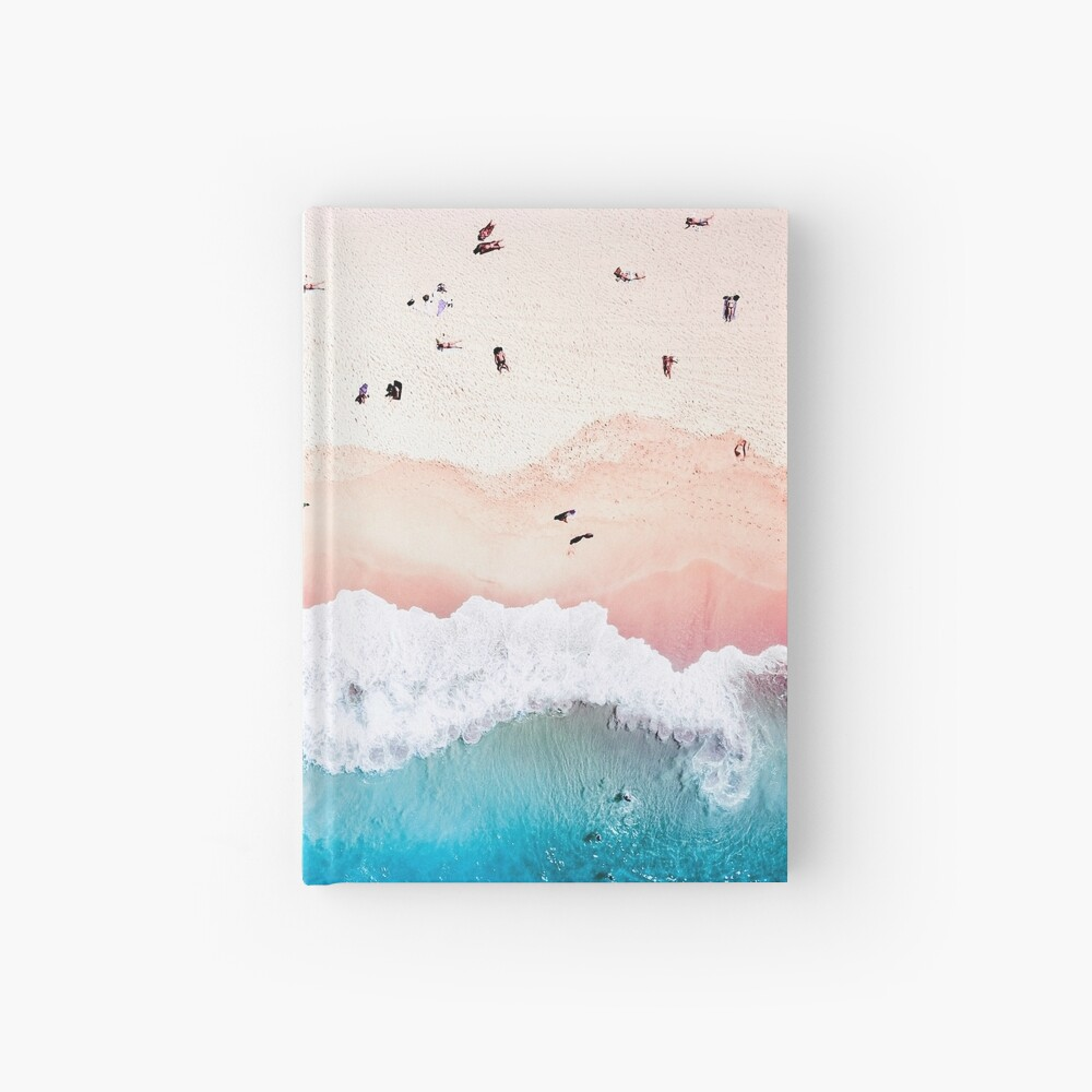 Aerial Sandy Beach Hardcover Journal