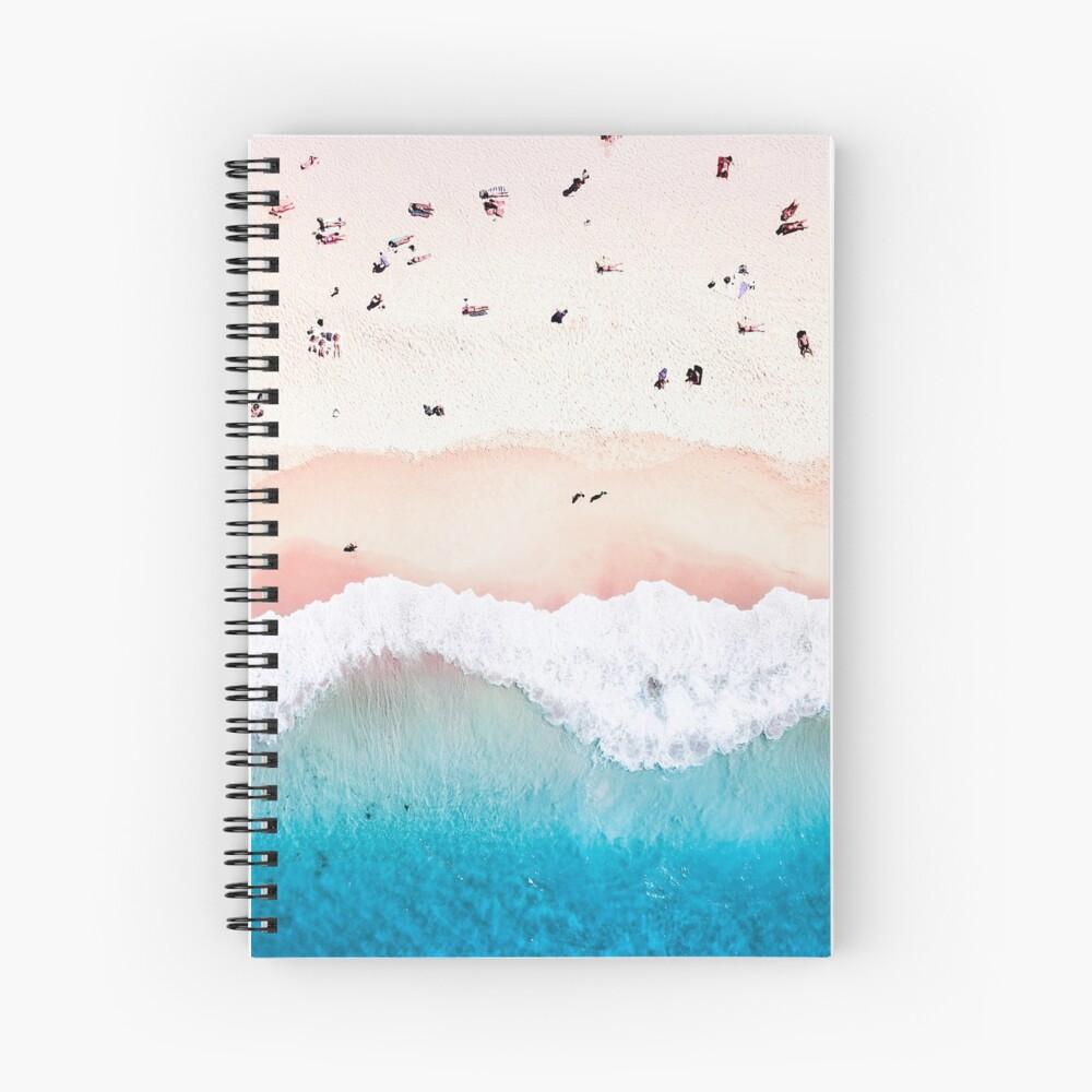 Aerial Sandy Beach Spiral Notebook