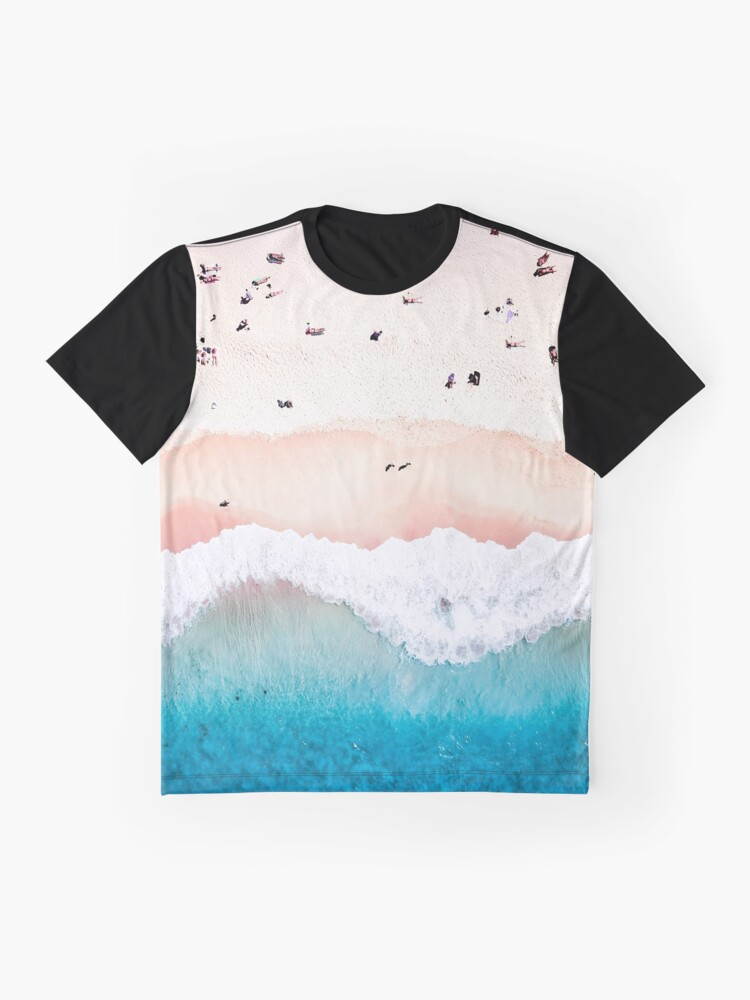 Alternate view of Aerial Sandy Beach Graphic T-Shirt