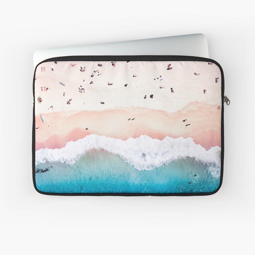 Aerial Sandy Beach Laptop Sleeve