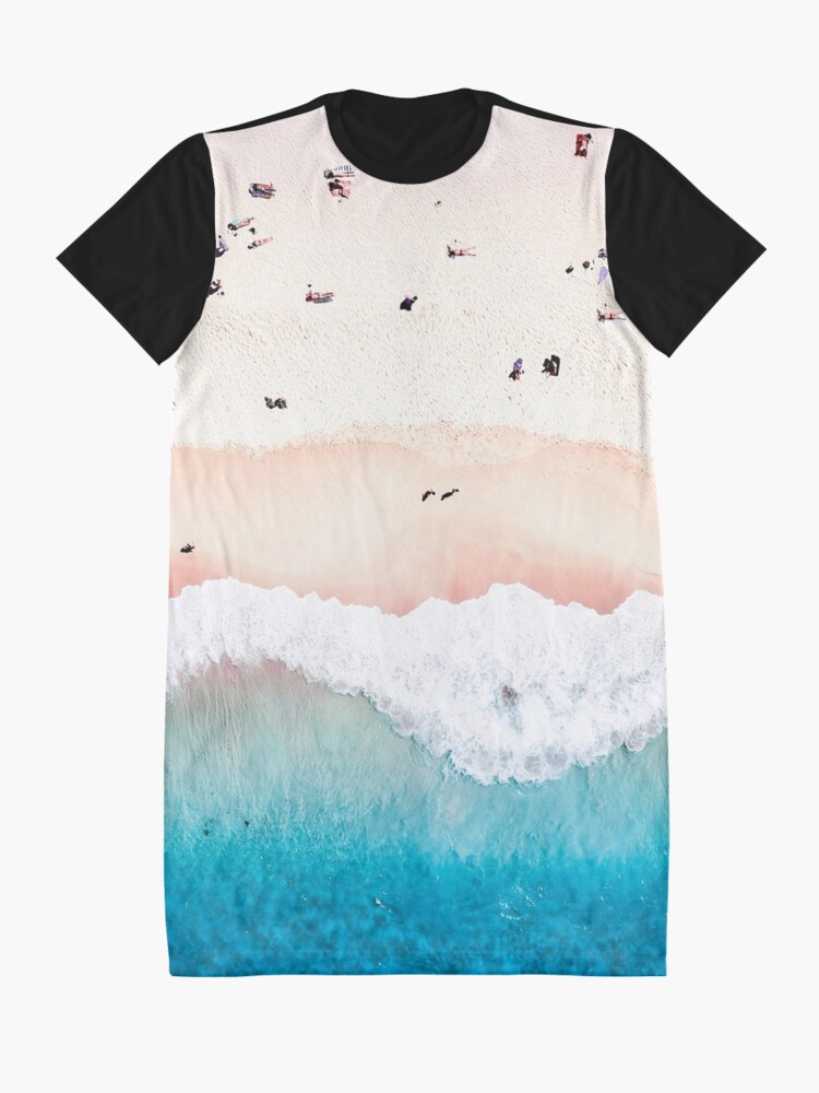 Alternate view of Aerial Sandy Beach Graphic T-Shirt Dress