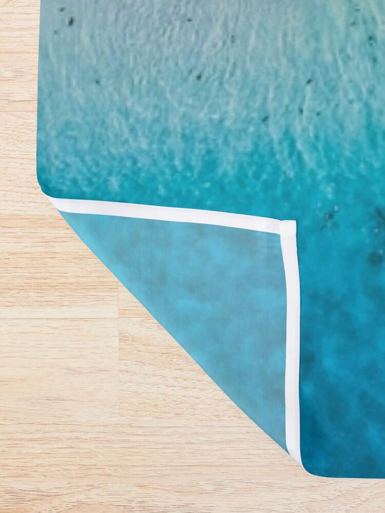 Alternate view of Aerial Sandy Beach Shower Curtain