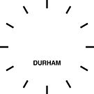 Durham Time Zone Newsroom Wanduhr von bluehugo