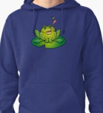 Froggy Catching Dinner Pullover Hoodie